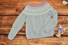 Norwegian sweater Girls Wool Fair isle sweater Size S
