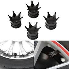 4PC Car kings Crown Tire Stem Valve Dust Cover Caps Wheel Valve Stem Universal