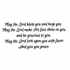 May the Lord bless you and keep you UNMOUNTED rubber stamp bible verse #23