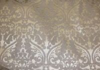 """Vinyl FAUX LEATHER Silver Parisian Embossed Damask Drapery fabric by  yard 55"""""""