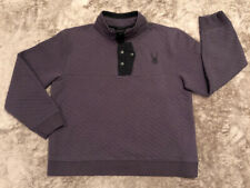 Spyder Pullover Sz Men's XL (Fits Like Sz L)  1/4 Button Up High End Well Made