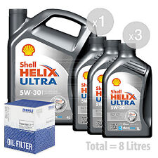 Engine Oil and Filter Service Kit 8 LITRES Shell Helix Ultra ECT C3 8L