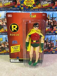 """2021 Mego DC Comics Super Heroes Batman ROBIN 8"""" Action Figure MOC"""