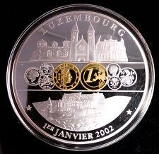 MAGNIFIQUE GROSSE MÉDAILLE - LUXEMBOURG EURO 1ER JANVIER 2002
