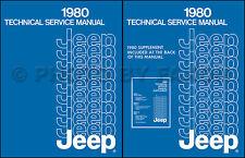 1980 Jeep Repair Shop Manual CJ5 CJ7 Cherokee Wagoneer Truck Renegade Laredo