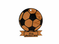 Personalized Soccer Wooden Christmas Ornament (FREE SHIPPING)