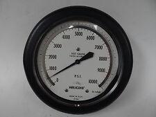 "Helicoid Pressure Gauge 6"" Test Gauge (0-10,000 PSI) Bottom Connection"