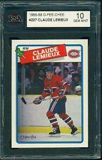 1988 89 OPC #227 CLAUDE LEMIEUX KSA 10 GEM MINT!! CANADIENS