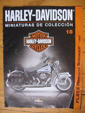 FASCICULE 18  MOTO COLECCION HARLEY DAVIDSON  FLSTS HERITAGE SPRINGER 1997