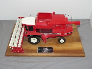 Vintage WHITE 9700 Toy Combine Scale Models 1:24 MOUNTED on Plaque RARE