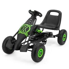 xoo viper pedal go kart in black with green trim, new in box