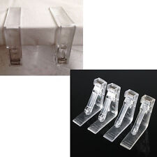 4x Clear Plastic Tablecloths Table Cover Holder Skirt Clips Clamp Grips Party FT