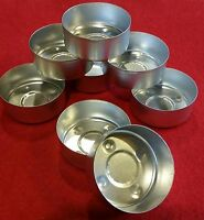 50 TEALIGHT CUPS ALUMINUM METAL CONTAINERS NEW