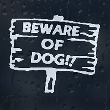 BeWare Of The Dog On Board Sign Car Or House Decal Vinyl Sticker