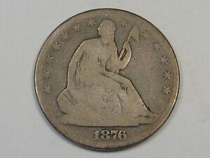1876 Seated LIBERTY Half Dollar. #58