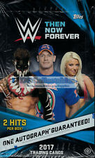 2017 TOPPS WWE THEN NOW FOREVER WRESTLING FACTORY SEALED HOBBY BOX NEW AUSSIE!!!