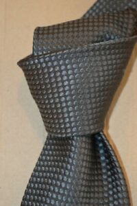 """$250 NWT TOM FORD Charcoal GRAY raised dots 3.8"""" men's woven silk tie ITALY"""