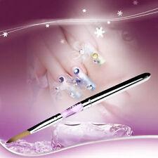 Size 12 Nail Art Builder Pen Acrylic Nail Art Tips UV Builder Gel Brush Pen