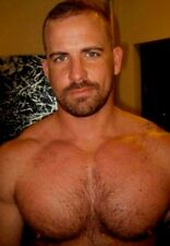 Shirtless Male Beefcake Hairy Chest Hunk Beard Jock Dude PHOTO 4X6 D655