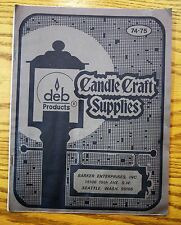 Vintage 1970's Candle Craft Supplies CATALOG Molds Wax Dyes Wicking 3D 2 piece !