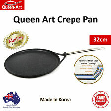 Queen Art Non Stick Crepe Frying Pan Frypan Non Stick Marble Stone Coated 32cm