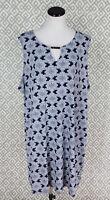 Womens New Directions Blue Sleeveless Keyhole Tunic Sundress Dress Plus Size 3X