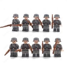WW2 Deutsche Soldaten Mannschaft Lego kompatibel 10 Stück