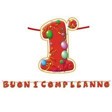 FESTONE BUON 1° COMPLEANNO Scritta 6 m Lettere Addobbi feste compleanno Bimbo