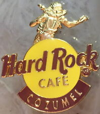 Hard Rock Cafe COZUMEL 1990s Gold Scuba Diver on Classic HRC LOGO PIN HRC #2121