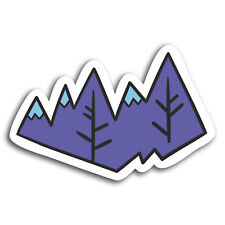 2 x 10cm Cool Mountain Ski Snowboard Vinyl Stickers - Sticker Laptop Gift #19596
