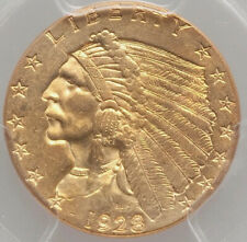 1928 $2 1/2 Gold Indian Head Quarter Eagle PCGS MS62 FROSTY SURFACE