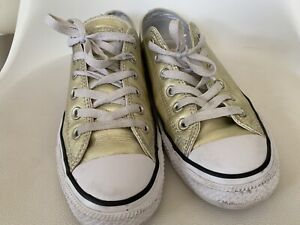 Converse All Star Gold Low Top Pumps Size 8 Ladies
