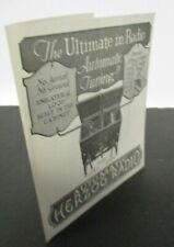 1920s Automatic HERZOG RADIO RECEIVER Brochure