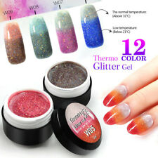 UV Thermal Magic Effect Glitter Color Gel Polish Temperature Change Nail Varnish