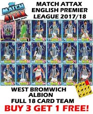 MATCH ATTAX 2017/18 WEST BROMWICH ALBION FULL TEAM SET 18 CARDS 17/18 BROM