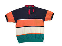 Vintage Knights Of The Round Table Striped/Colorblock Polo Shirt XLT (Tall)