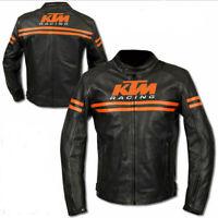 KTM Motorbike Motorcycle Rider Leather Jacket Racing LLJ-066