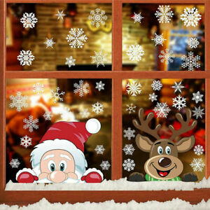 3D Large Christmas Window Sticker Lovely Cling Decal Home Holiday Party Decor
