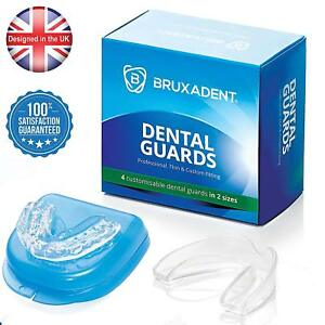 4 x BRUXADENT Dental Mouth Guards for Grinding Teeth, Bruxism Night Guard, TMJ