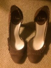 Christian Dior Suede shoes Sample,Size37(USA7),Brown,Authentic.Made In Italy.