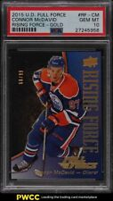 2015 Upper Deck Full Force Rising Force Gold Connor McDavid ROOKIE RC /99 PSA 10