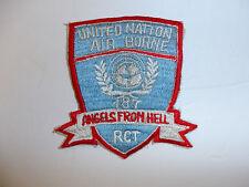 b1203 US Army Korea 187th RCT Patch  Air borne United Nation 11th airborne R8E