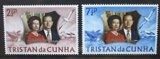 TRISTAN DA CUNHA 1972 Royal Silver Wedding. Set of 2. Mint Never Hinged. SG174/5