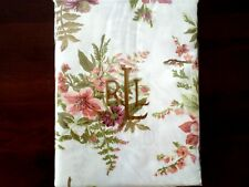 """New Ralph Lauren Brittany Floral White Red Green Tablecloth 60"""" x 84"""" Oblong"""