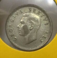 1952 South African 6d silver coin very High Grade!