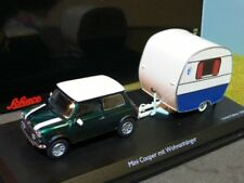 1/43 Schuco Mini Cooper con caravana Knaus schwalbennest 45 024 1500