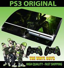 PLAYSTATION PS3 ORIGINAL H R GIGER ALIEN HORROR DARK STICKER SKIN & 2 PAD SKINS