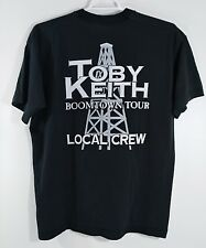 Toby Keith Black 90's Boomtown Tour Concert Country Shirt Local Crew Size XL