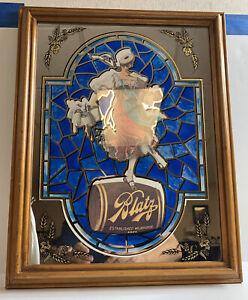 Vtg Blatz Milwaukee Heileman Valerie Girl Barmaid Beer Sign Man Cave Bar Mirror