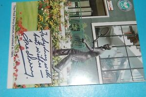 FRED PERRY SIGNED POSTCARD THE FRED PERRY STATUE UNVEILED 1984